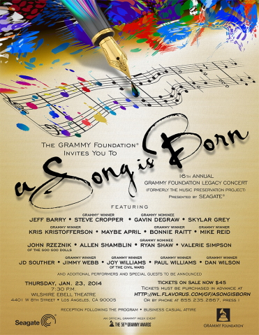 "Seagate presents ""A Song is Born"" the GRAMMY FOUNDATION's 16th Annual Legacy concert to kick off GRA ..."