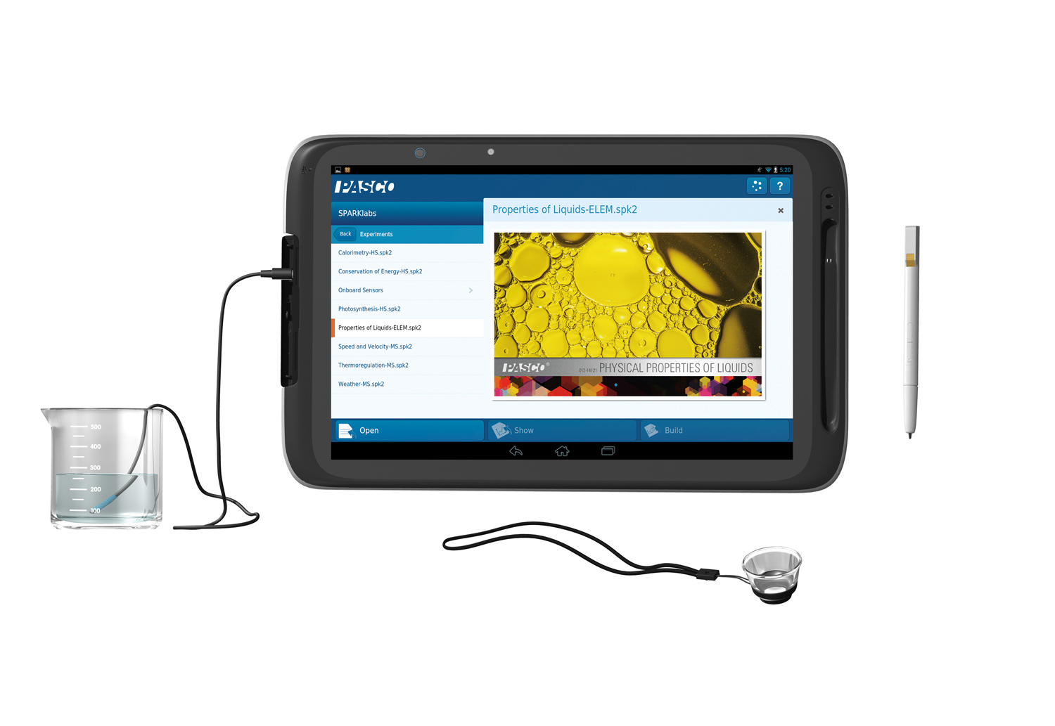Intel Education Tablet: The 10-inch Intel® Education Tablet features a snap-on magnification lens and plug-in thermal probe. (Photo: Business Wire)