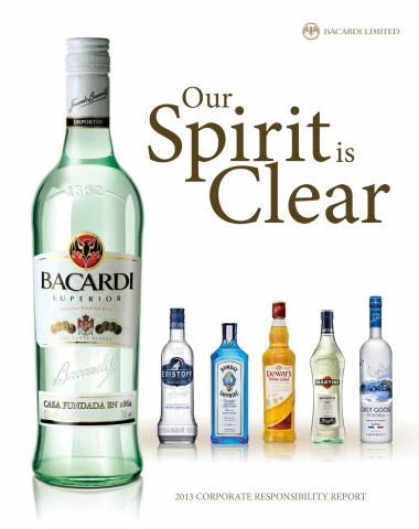 Bacardi Limited, dans son rapport annuel de responsabilité d?entreprise qui vient juste d?être publi ...