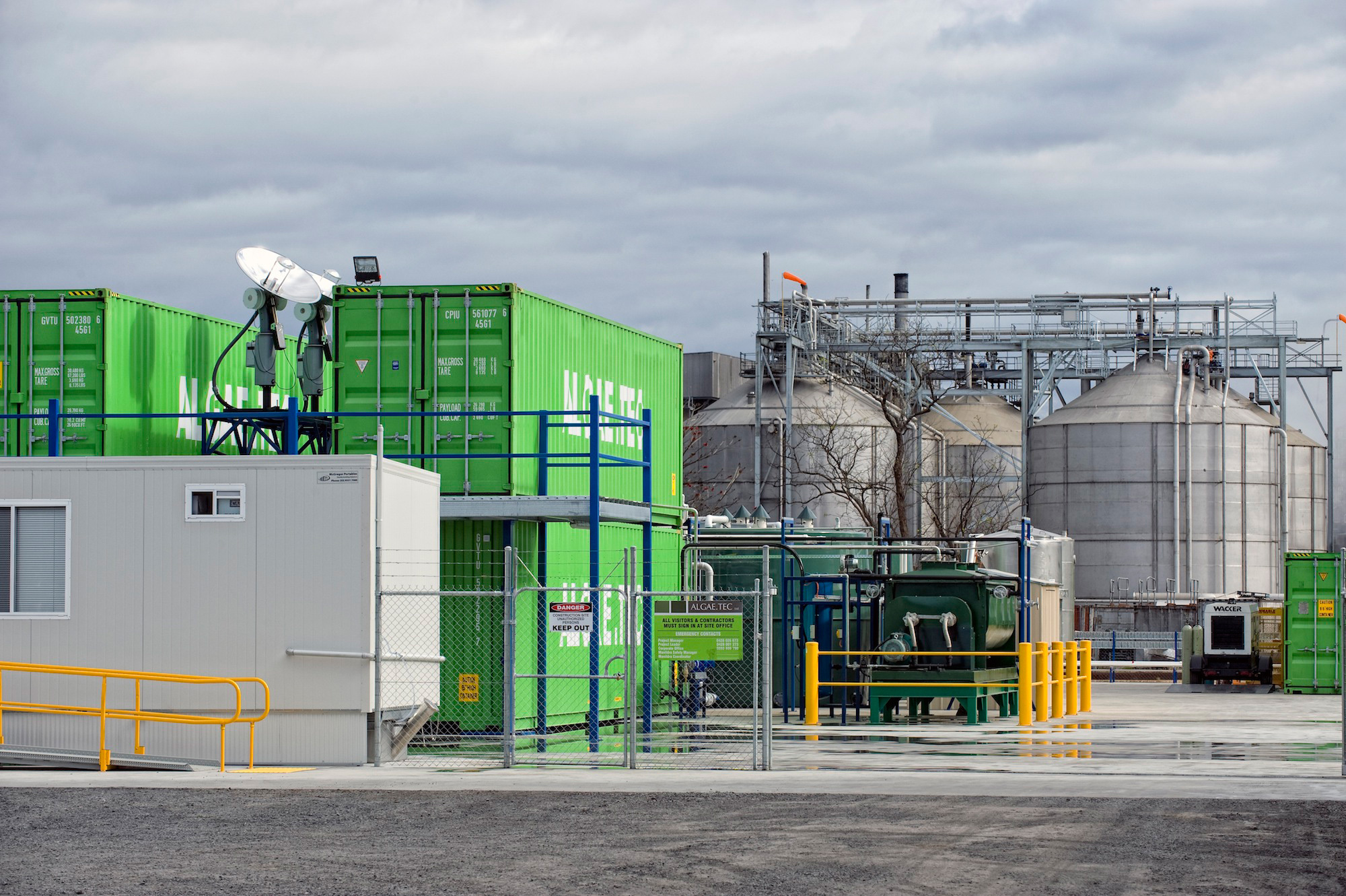 Algae.Tec's enclosed algae growth technology system. (Photo: Business Wire)