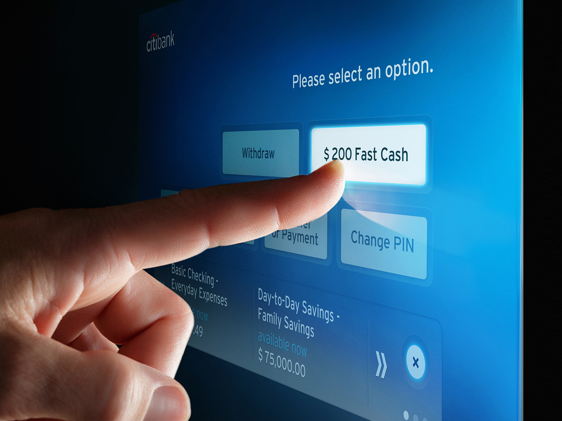 Citibank unveils a new, simplified ATM experience across the U.S., including a Quick-Touch Balance Peek feature. (Photo: Business Wire)