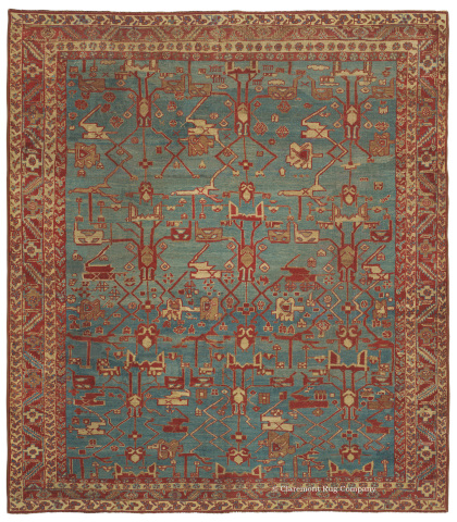 A Bakshaish from Northwest Persian (9ft 5in x 10ft 9in), ca 1850. This early antique Bakshaish rug is part of the Best of 2013 exhibition of antique Oriental carpets displayed online at Claremont Rug Company. (Photo: Business Wire)