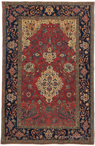 A one-in-the-world Ishfahan from Central Persian (from the second quarter of the 19th century) measures 4-6 x 6-10 and is included in the 40 best antiques rugs sold in 2013 by Claremont Rug Company. (Photo: Business Wire)
