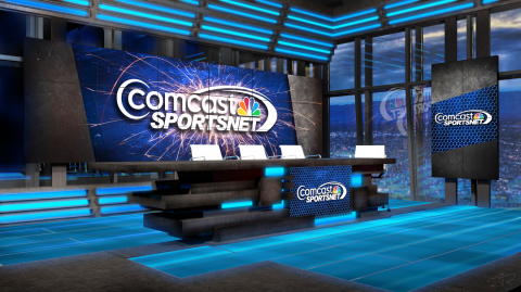 CSN Bay Area Studios at Levi's(R) Stadium, a new state-of-the-art 1,000 square foot in-stadium studio, highlights more than 400 hours of 49ers-related programming slated for 2014 on Comcast SportsNet. (Photo: Business Wire)