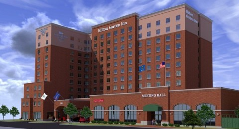 Rendering of the Hilton Garden Inn and Homewood Suites by Hilton Oklahoma City-Bricktown. (Photo: Business Wire)
