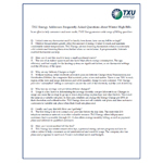 TXU Energy Addresses Questions about High Winter Usage, High Winter Electricity Bills