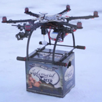 Lakemaid Beer Tests Drone Delivery on Frozen Northern Lakes (Photo: Business Wire)