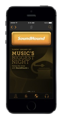 SoundHound's 2014 GRAMMYs Page (Photo: Business Wire)