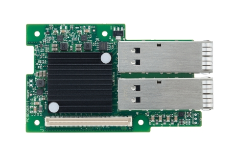 Mellanox's 40GbE NIC is based on energy-efficient, high-performance ConnectX-3 Pro ICs, and is designed to meet OCP specifications. Available now, the ConnectX-3 Pro OCP-based 40GbE NICs with RDMA over Converged Ethernet (RoCE) and overlay network offloads offer optimized latency and performance for converged I/O infrastructures while maintaining extremely low system power consumption. (Photo: Business Wire)