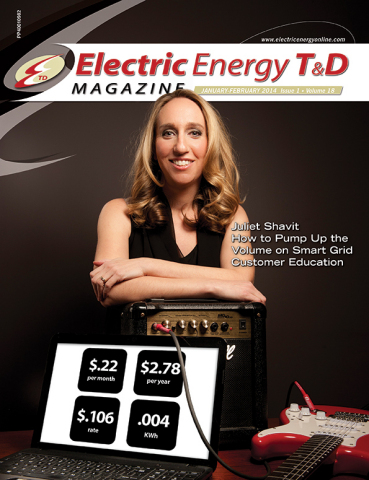 SmartMark CEO, Juliet Shavit, on the cover of the winter issue of Electric Energy T&D. (Photo: Business Wire)