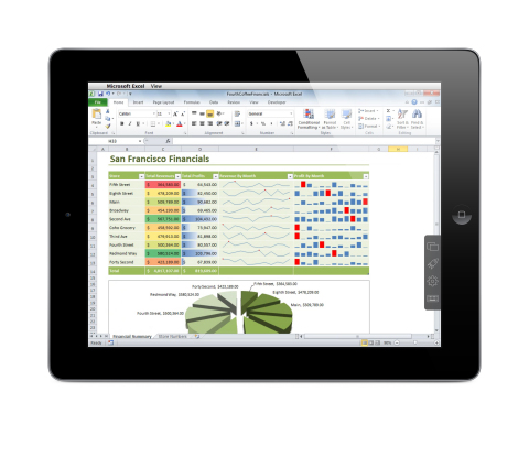 Microsoft Excel for Windows on the iPad! How? Parallels Access app for iPad enables you to access all of the applications on your PC or Mac so they look and behave just like iPad apps. Download a free trial on the iTunes App Store or at www.parallels.com/access. (Photo: Business Wire)