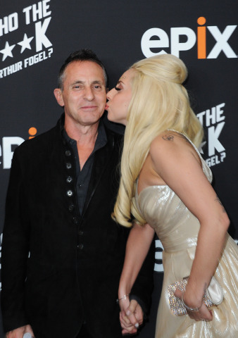 Lady Gaga with Arthur Fogel at EPIX Presents: An Evening with Arthur Fogel on 1/23/14. Credit: Joshua Blanchard Getty for EPIX.
