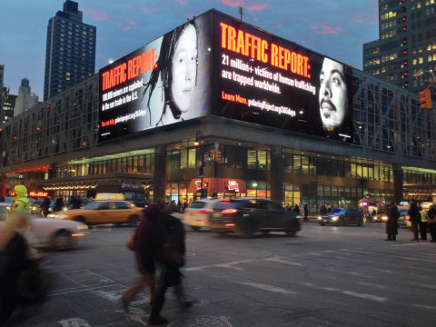 "Clear Channel Outdoor's and Polaris Project's ""Traffic Report"" Campaign at New York Port Authority ( ..."