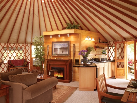 Luxurious Pacific Yurt Interior (Photo: Business Wire)