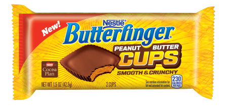 Just in time for the big game, BUTTERFINGER® Peanut Butter Cups makes its nationwide debut. (Photo: Business Wire)