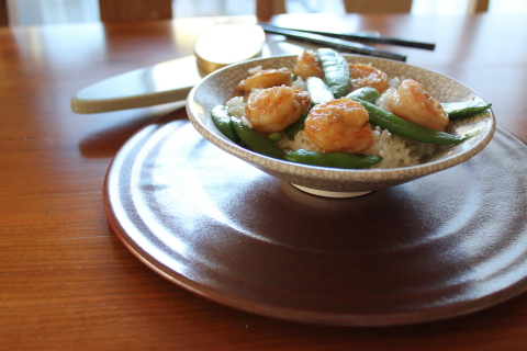 Velvet Shrimp with Sugar Snap Peas (Photo: Business Wire)