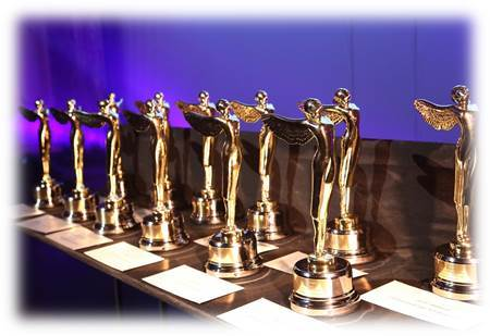 Gold Lumiere Statuettes were presented for the top 3D movies, television, and advertising. Honors were presented to winners from Hollywood, Japan, China, Luxembourg, Taiwan, The U.K., Russia and throughout Europe. (Photo: Business Wire)