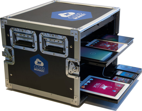 "CloudMonkey Mobile's LabManager ""Mobile device lab in a box."" (Photo: Business Wire)"