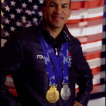 Local favorite, speed skater medalist, Derek Parra will sign autographs and pose for photos with fans at free community party on Feb. 7 at Utah Valley Convention Center. (Photo: Business Wire)