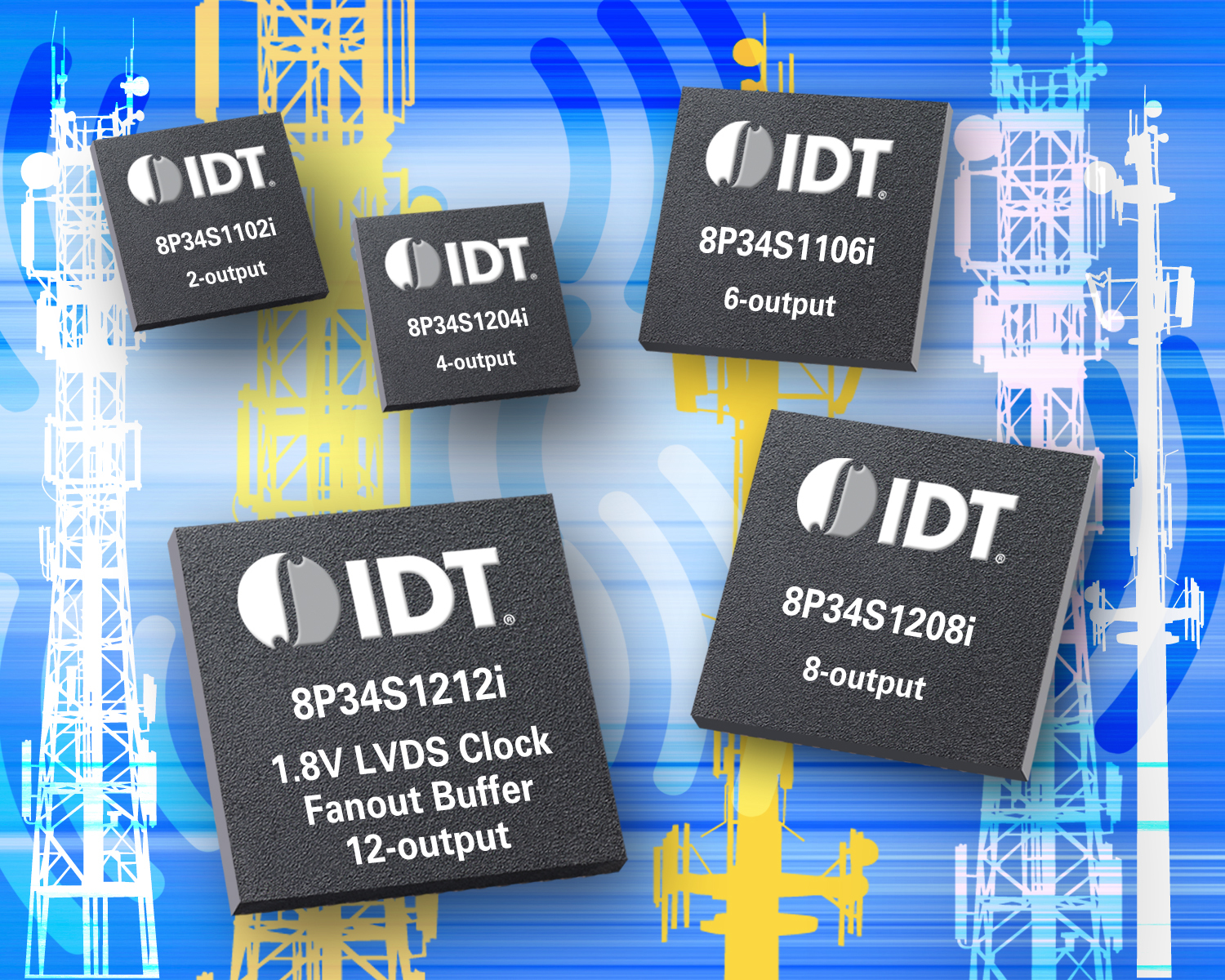 IDT Introduces Low-power LVDS Clock Fanout Buffers Offering 60% Power Savings (Photo: Business Wire)