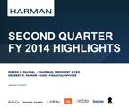 HARMAN 2QFY2014 Supporting Slide Deck