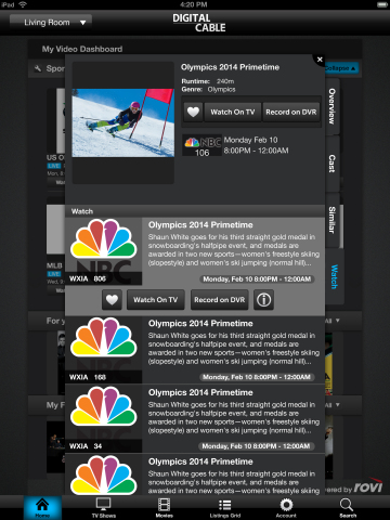Rovi Corporation (NASDAQ: ROVI), a global leader in entertainment discovery, today announced that its metadata for the 2014 Winter Olympic Games is available to customers worldwide. Part of Rovi Video data - Rovi's extensive offering of rich information on TV programs, movies, celebrities and sports, covering 55 countries worldwide - the data coverage of the games features hour-by-hour event descriptions, athlete profiles, event history, unique facts, and associated multimedia content. (Graphic: Business Wire)