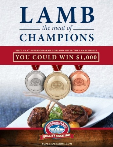 The lamb sweepstakes is available to enter on www.superiorfarms.com. (Graphic: Business Wire)