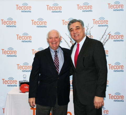 Senator Ben Cardin and Jay Salkini, President and CEO of Tecore Networks (Photo: Business Wire)