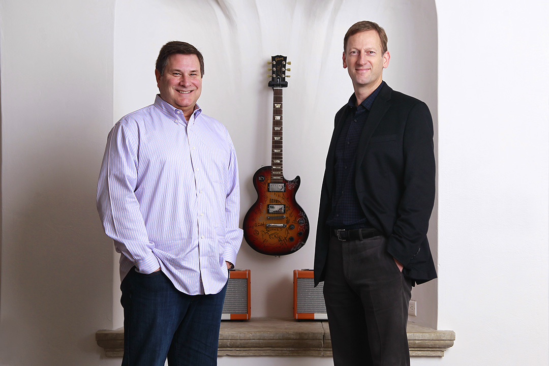 Slacker Board Member Jim Cady (Left) and Incoming Slacker CEO Duncan Orrell-Jones (Right). (Photo: Business Wire)