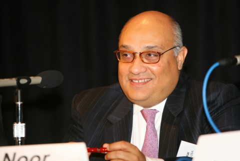 Noor Menai, CEO of CTBC Bank USA, speaks at the Los Angeles Economic Forecast breakfast (Photo: Business Wire)