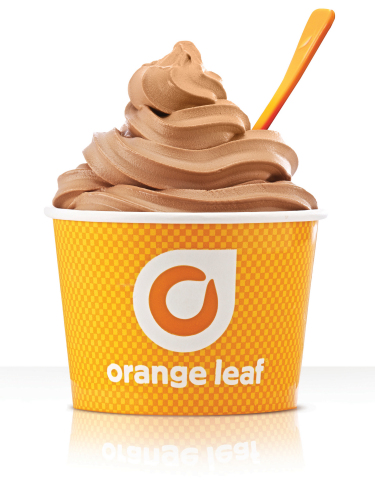 Orange Leaf Frozen Yogurt introduces new Chocolate made with Ghirardelli, with contest to win trip to chocolate festival or froyo for a year. (Photo: Business Wire)