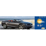 Automobile business advertises a convertible sports car on a sunny day with the current time and temperature. (Photo: Business Wire)