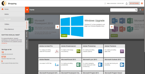 Shopping version 5.0 user interface
