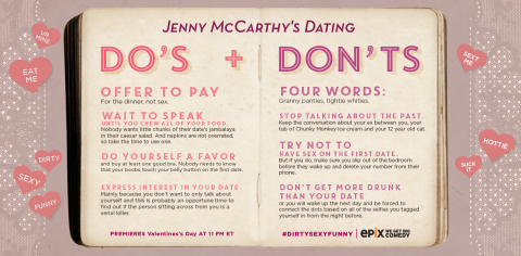 "Something special from Jenny to help make Valentine's Day even more romantic and filled with fun: EPIX Presents ""Jenny Mccarthy's Dirty Sexy Funny"" on Friday, February 14, at 11PM EST (Photo: Business Wire)"