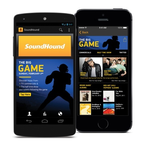 Screenshot from SoundHound's Super Bowl Experience (Photo: Business Wire)