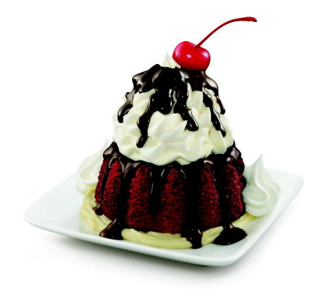 SONIC Drive-In's new Red Velvet Molten Cake Sundae, made with moist red velvet molten cake on a bed of rich cheesecake and crowned with a swirl of SONIC's Real Ice Cream, is a triple threat of premium sweetness that takes 'a la mode' to the extreme. (Photo: Business Wire)