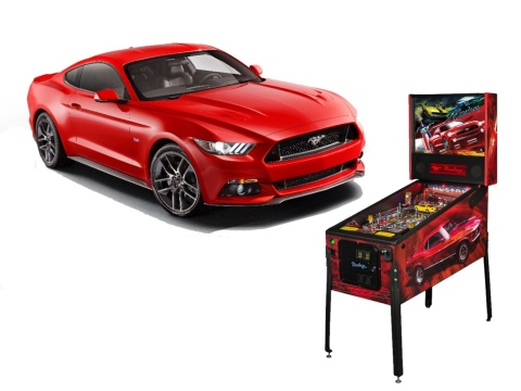 The all-new Ford Mustang headlines a trio of new pony car-themed pinball games to be revealed at the Chicago Auto Show. Crafted by Chicago's own Stern Pinball, the Mustang-inspired games combine two prime examples of 20th century American pop culture - the coin-operated pinball machine and the original pony car. (Photo: Business Wire)