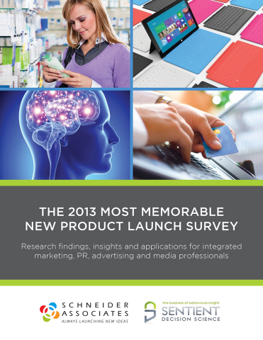 2013 Most Memorable New Product Launch Top 10 Announced (Photo: Business Wire)