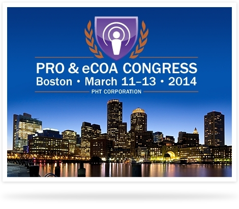 Register today for the 10th Annual PRO & eCOA Congress, March 11-13, Boston, hosted by PHT Corporation (Image: Business Wire)