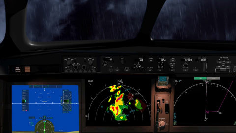 MultiScan ThreatTrack(TM) weather radar provides unprecedented atmospheric threat assessment capabilities for air transport aircraft. (Photo: Business Wire)