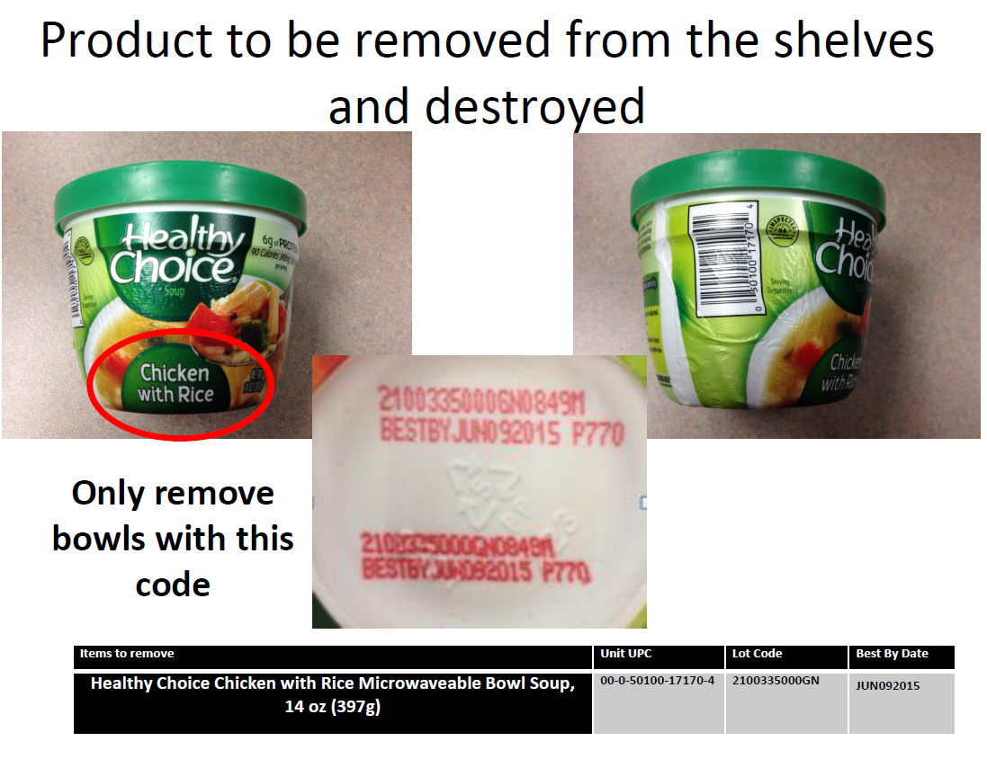 Product to be removed from the shelves and destroyed (Photo: Business Wire).