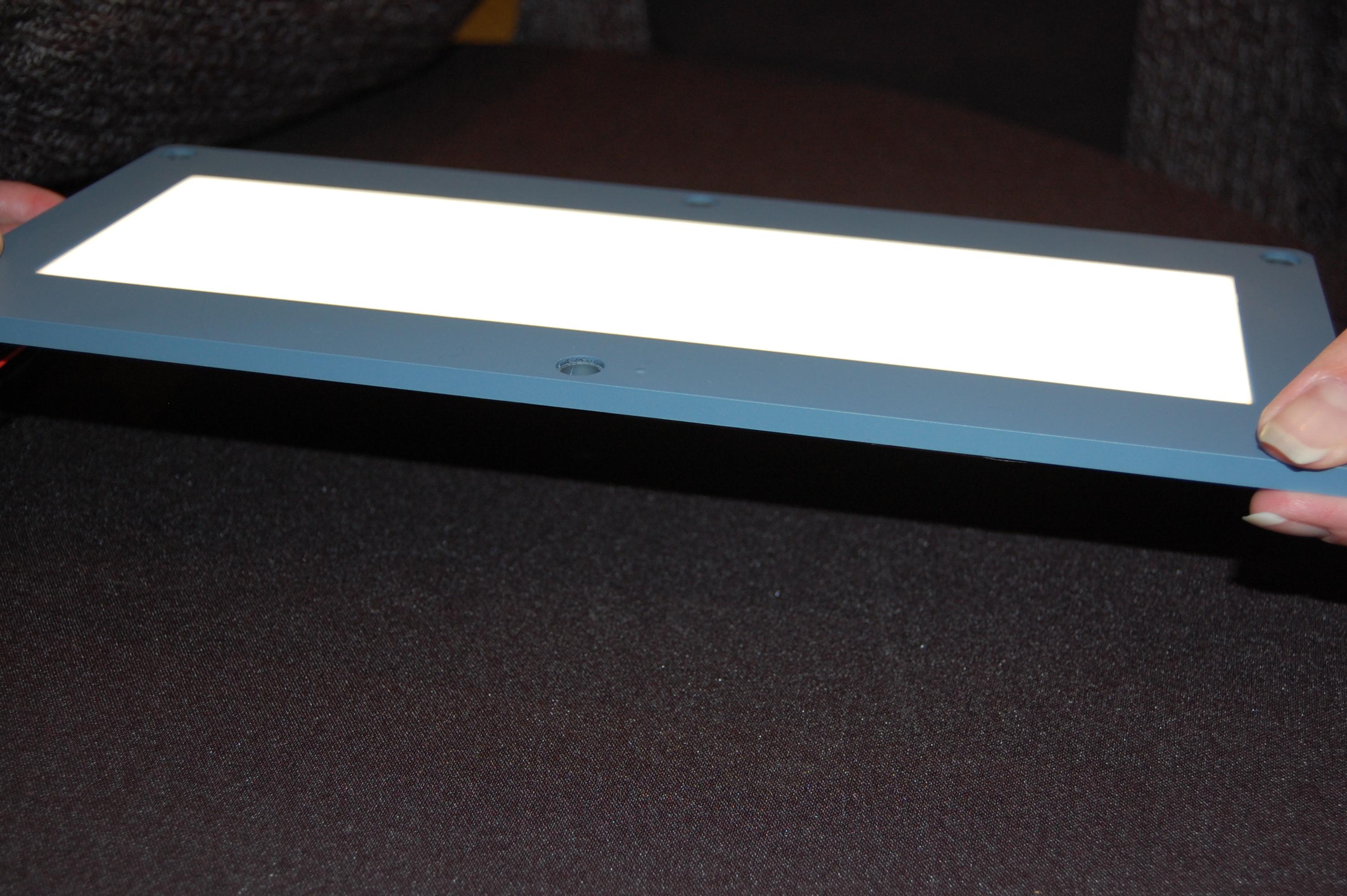 UDC/IDD OLED Lighting Prototype Credit: Akoya