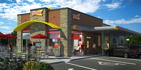 In addition to the iconic drive-in stalls and a drive-thru lane, the six new SONIC Drive-Ins planned for Syracuse, N.Y. and Watertown, N.Y. will offer a newly designed indoor dining room ideally suited for the colder climate. (Photo: Business Wire)