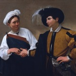 Caravaggio, The Fortune Teller (ca. 1594-95): On view at the  Muscarelle Museum of Art; on loan from the Musei Cap