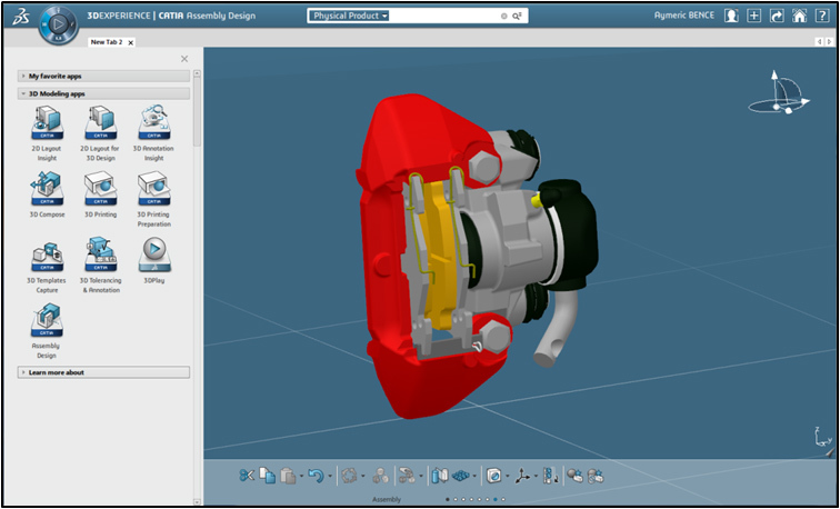 The 3DEXPERIENCE platform - CATIA (Graphic: Business Wire)