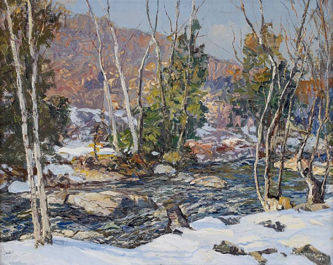 """Winter Harmony"" (Winter Evening) by American Impressionist landscape painter Edward Willis Redfield (1869-1965) was one of Invaluable's top-selling lots in Q4 2013 (Photo: Business Wire)"