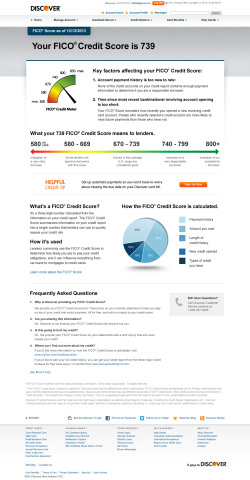 FICO Score key factors landing page on secure Account Center at Discover.com (Graphic: Business Wire)