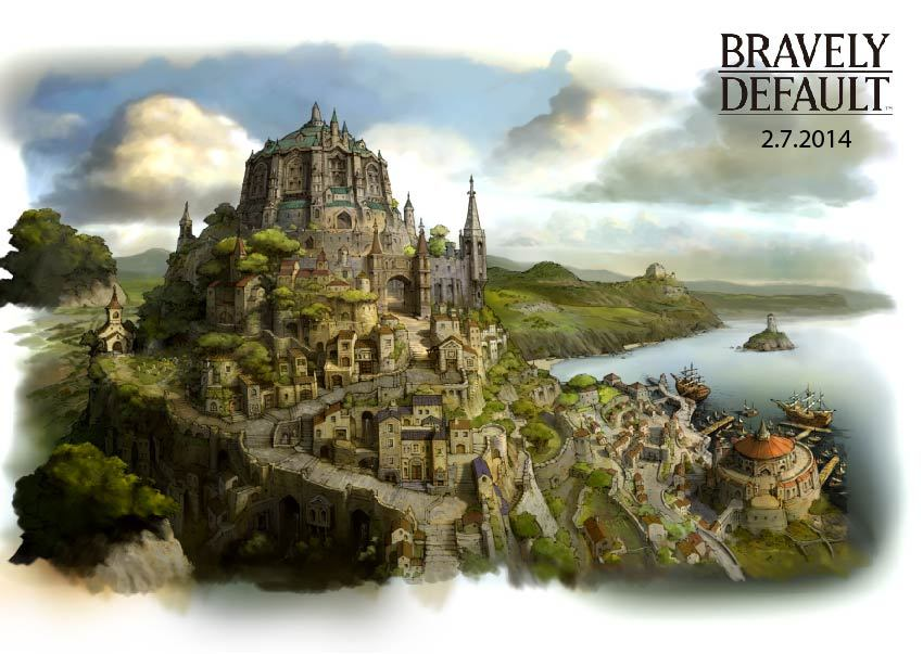 Launching exclusively for the Nintendo 3DS system on Feb. 7, Bravely Default brings a unique twist to the role-playing genre. (Graphic: Business Wire)