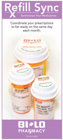 BI-LO Pharmacies Now Sync Customers' Prescription Refills Regardless of Refill Dates (Photo: Business Wire)