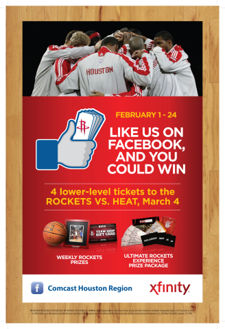 Rockets XFINITY Sweepstakes Team Huddle (Photo: Business Wire)
